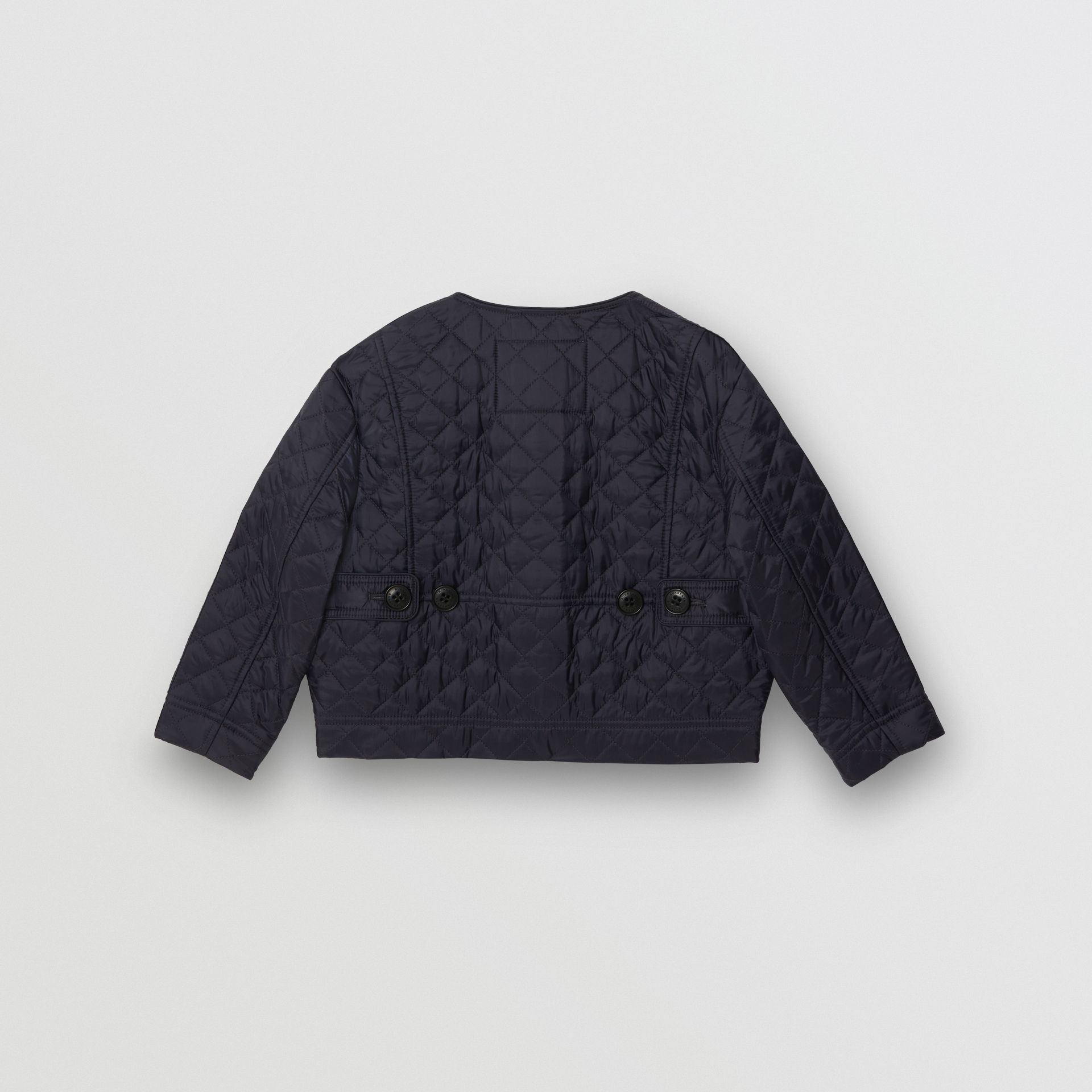 Lightweight Diamond Quilted Jacket in Navy - Children | Burberry - gallery image 4