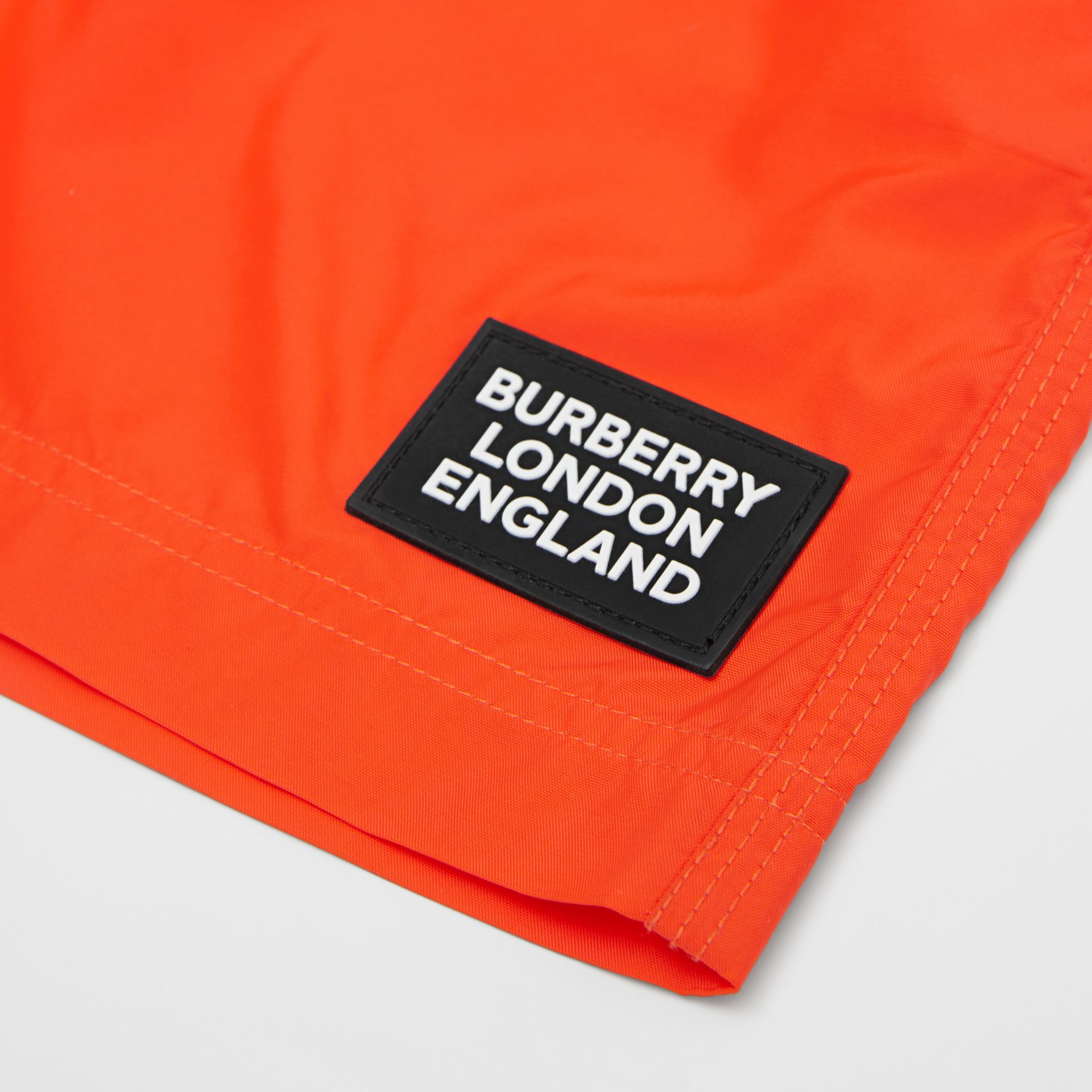 Logo Appliqué Swim Shorts in Vermilion Red | Burberry Hong Kong S.A.R - gallery image 1