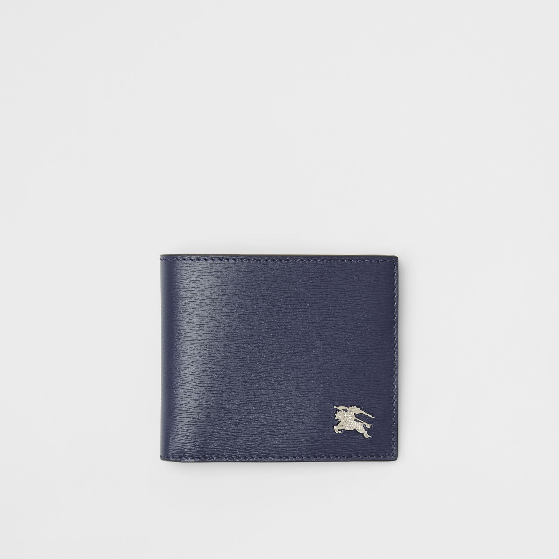 London Leather International Bifold Wallet in Navy - Men | Burberry - gallery image 0