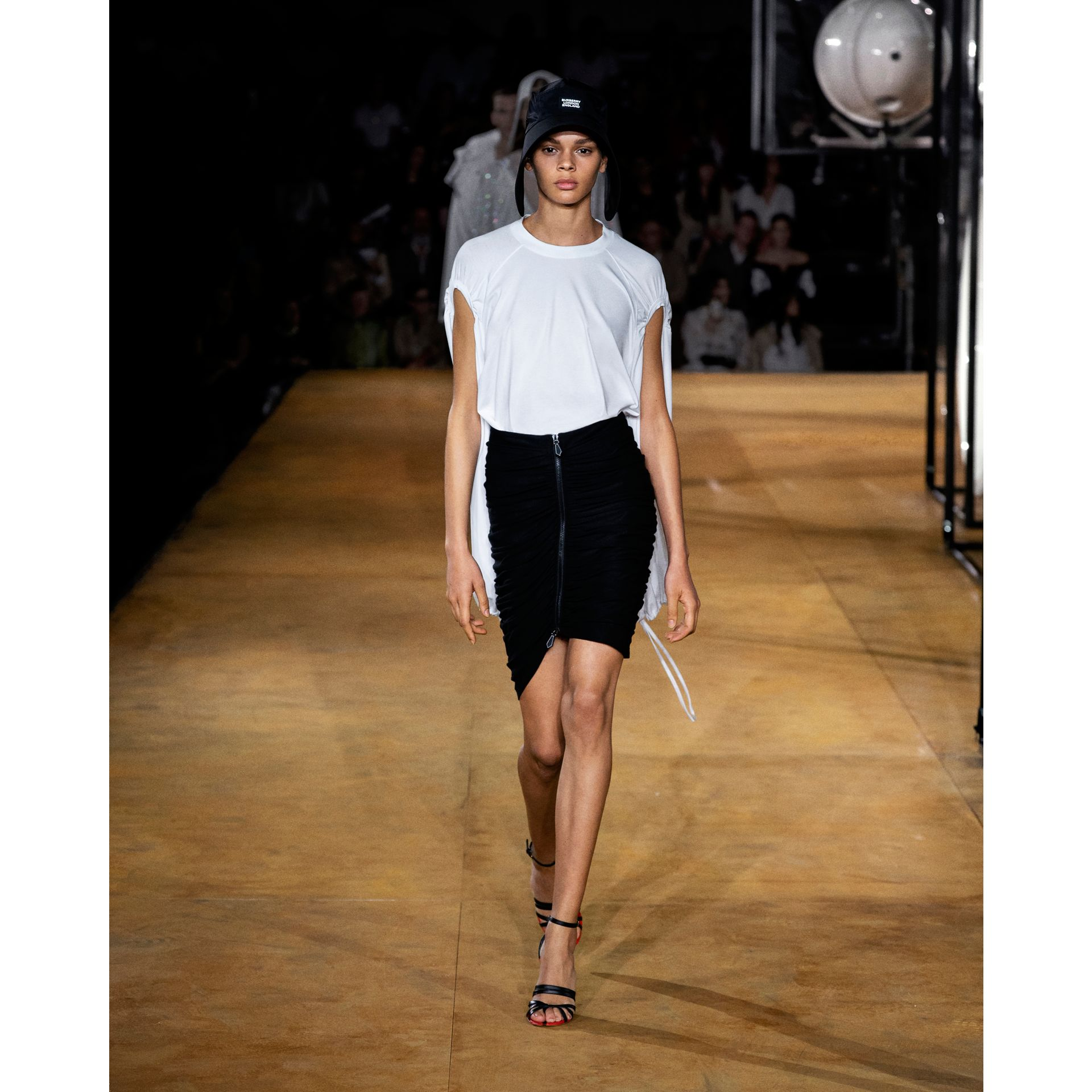 Ruched Jersey Mini Skirt in Black - Women | Burberry - gallery image 5