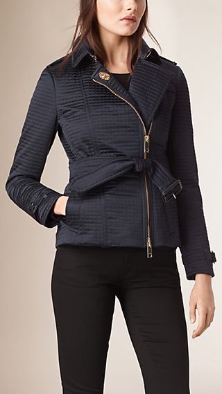 Off-centre Fastening Quilted Jacket