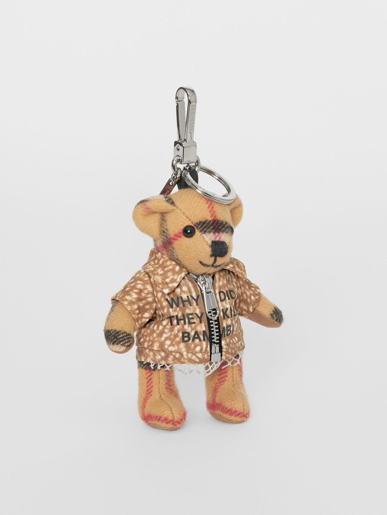 Thomas Bear Charm in Deer Print Coat (Antique Yellow)