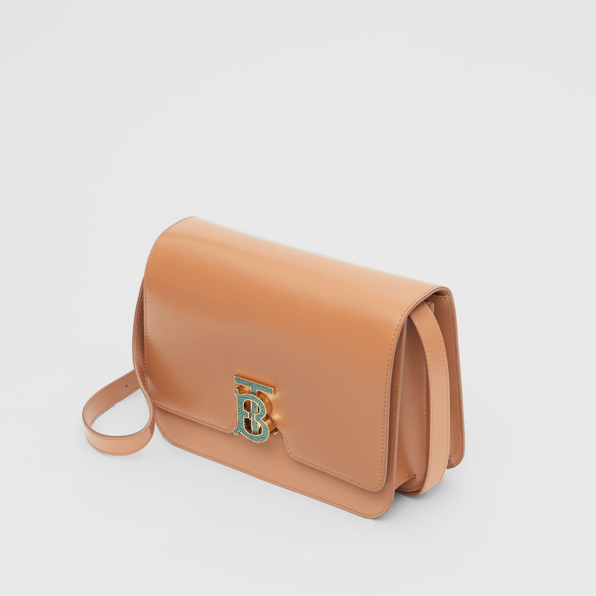 Medium Leather TB Bag in Flaxseed - Women | Burberry - gallery image 3