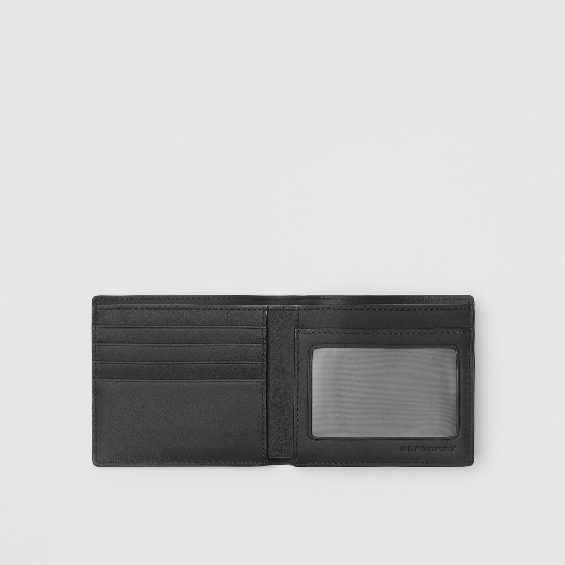 London Check ID Wallet in Charcoal/black - Men | Burberry United Kingdom - gallery image 2