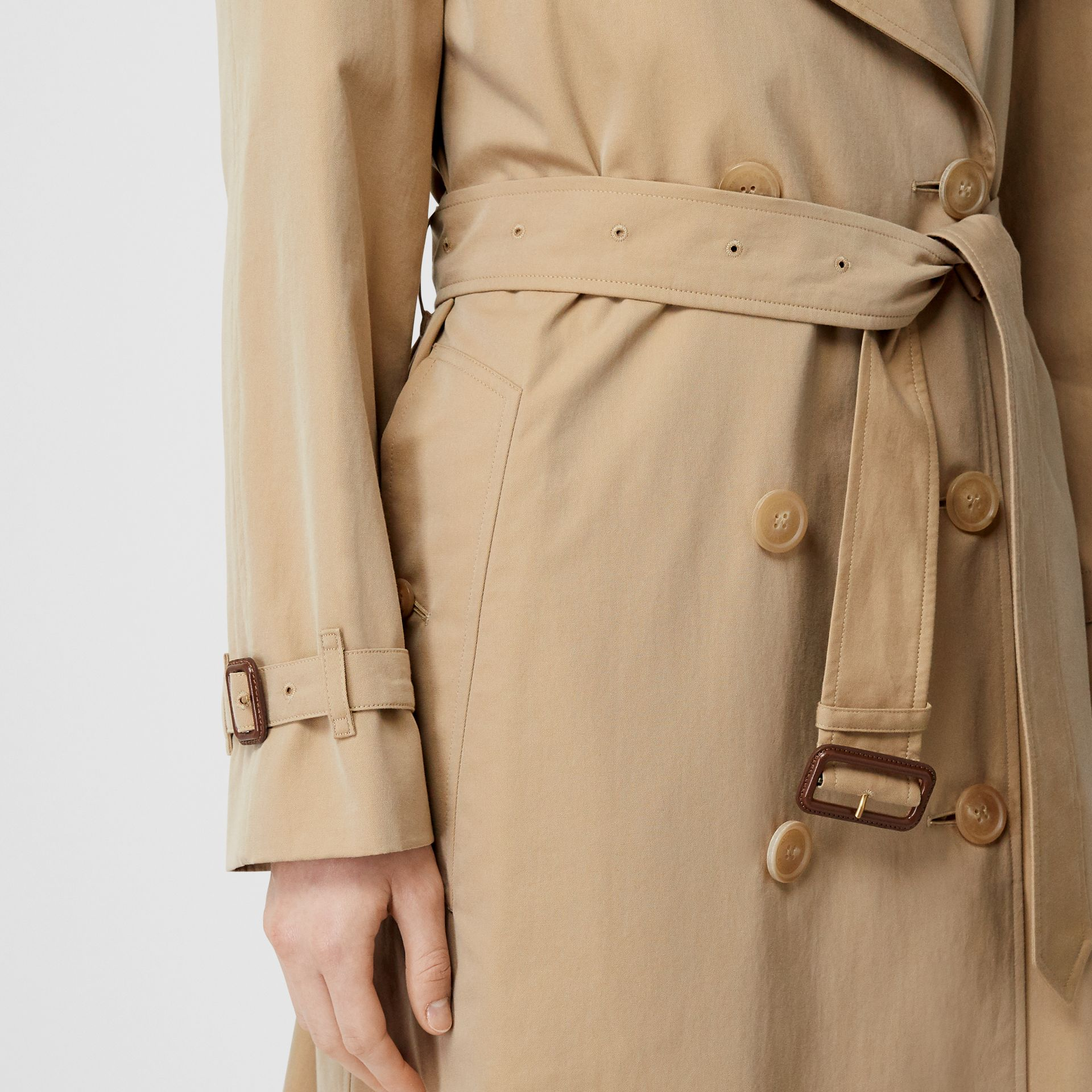 The Long Westminster Heritage Trench Coat in Honey - Women | Burberry - gallery image 6