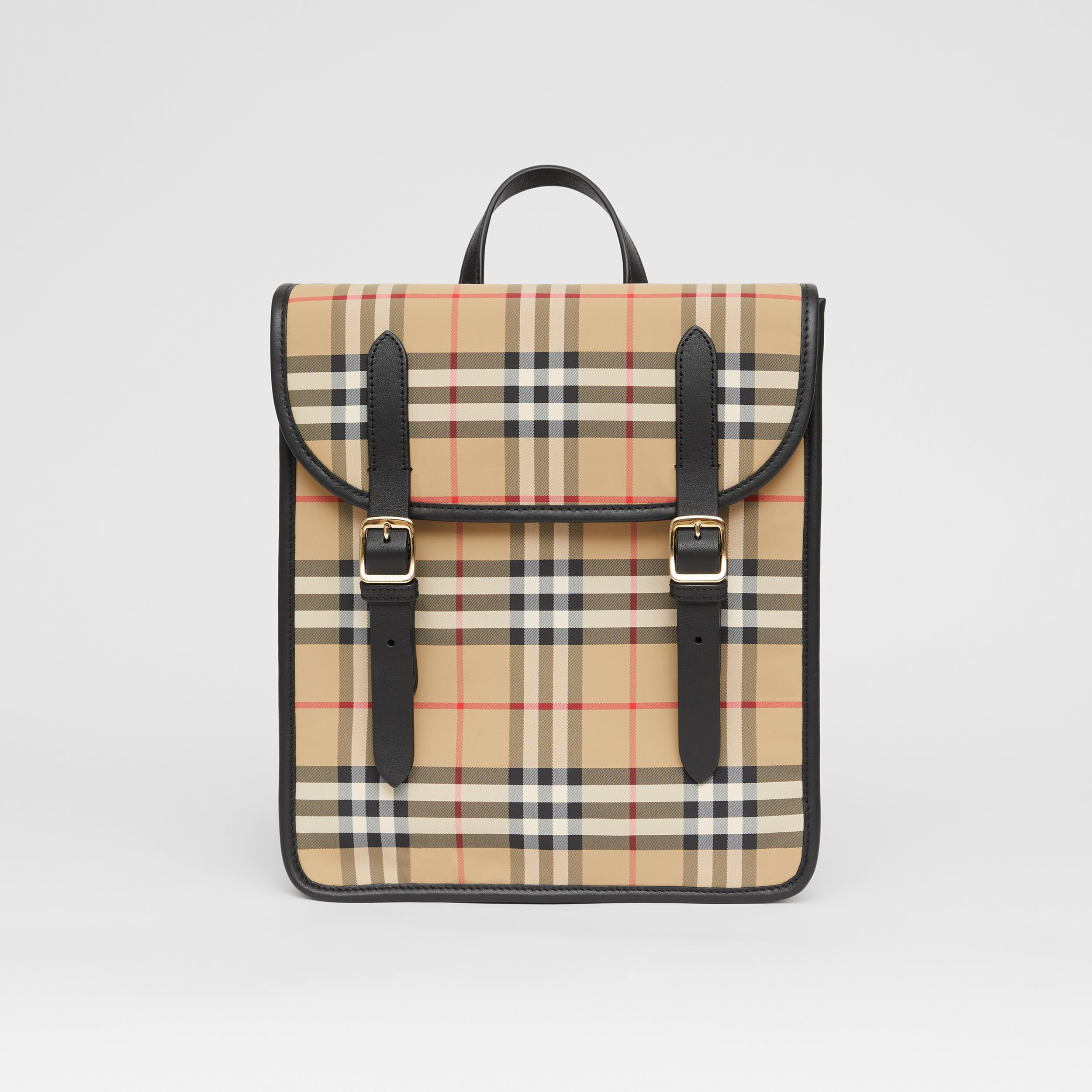 Vintage Check ECONYL® Satchel in Archive Beige - Children | Burberry United Kingdom - 1