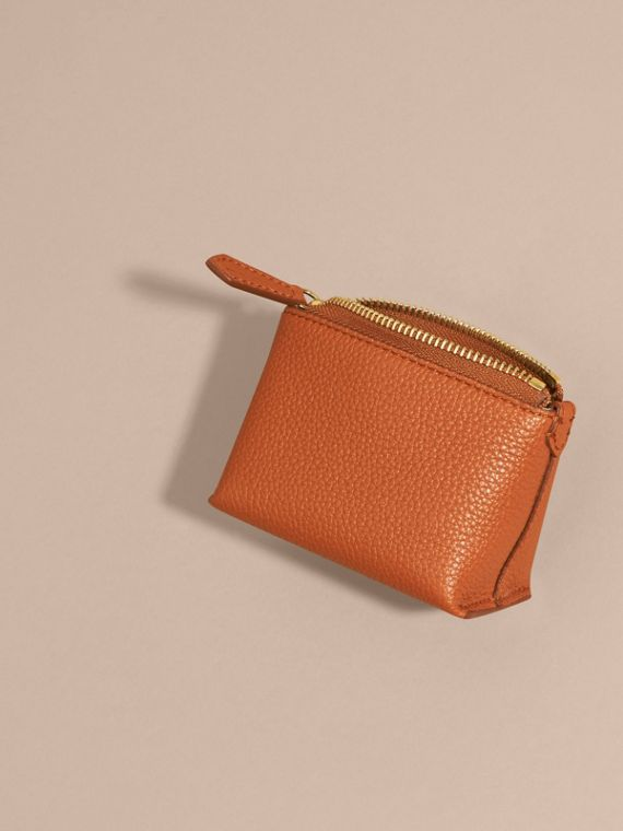 Orange umber Grainy Leather Lipstick Case - cell image 3