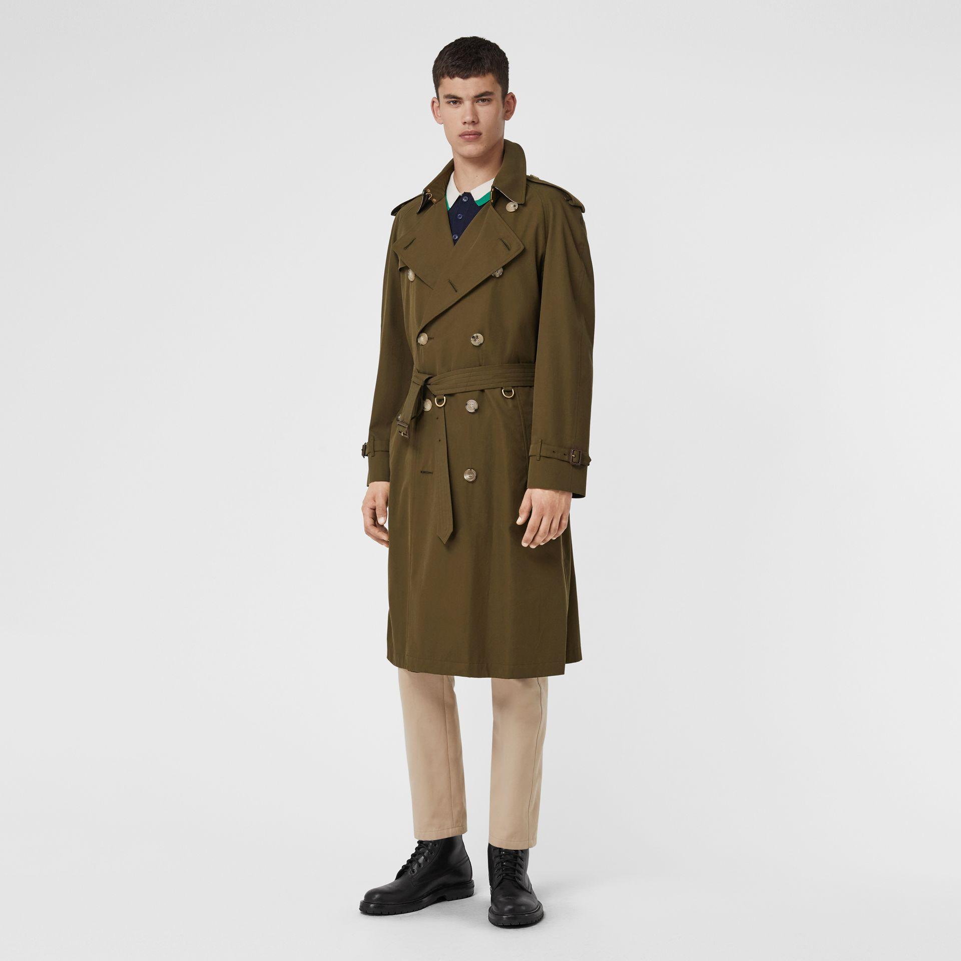 The Westminster Heritage Trench Coat in Dark Military Khaki - Men | Burberry Singapore - gallery image 0