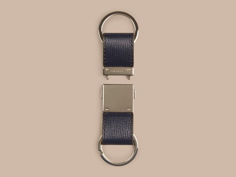 Dark navy London Leather Valet Key Ring Dark Navy - cell image 2