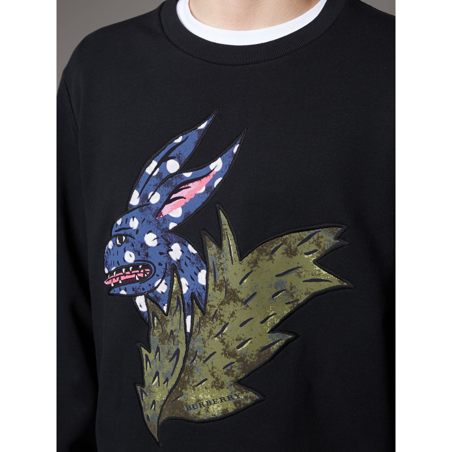 Beasts Motif Cotton Sweatshirt - Men | Burberry Australia - gallery image 2