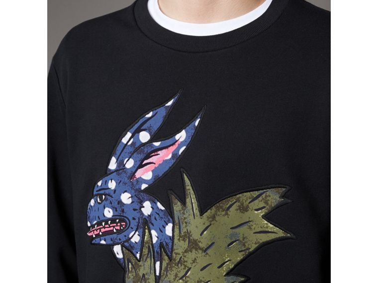 Beasts Motif Cotton Sweatshirt - Men | Burberry Australia - cell image 1