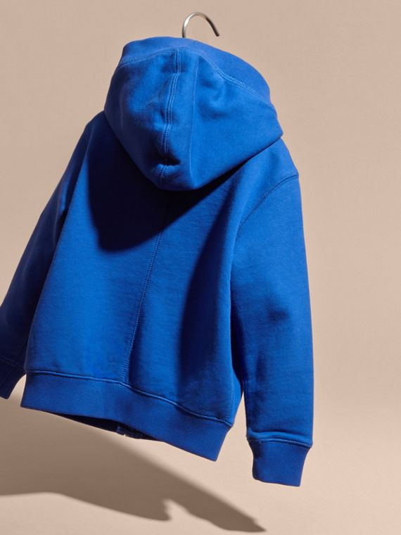 Brilliant blue Hooded Cotton Top Brilliant Blue - cell image 3