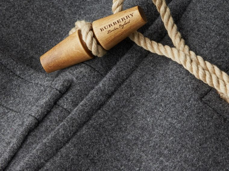 Mid grey Double Splittable Wool Blend Duffle Coat - cell image 1