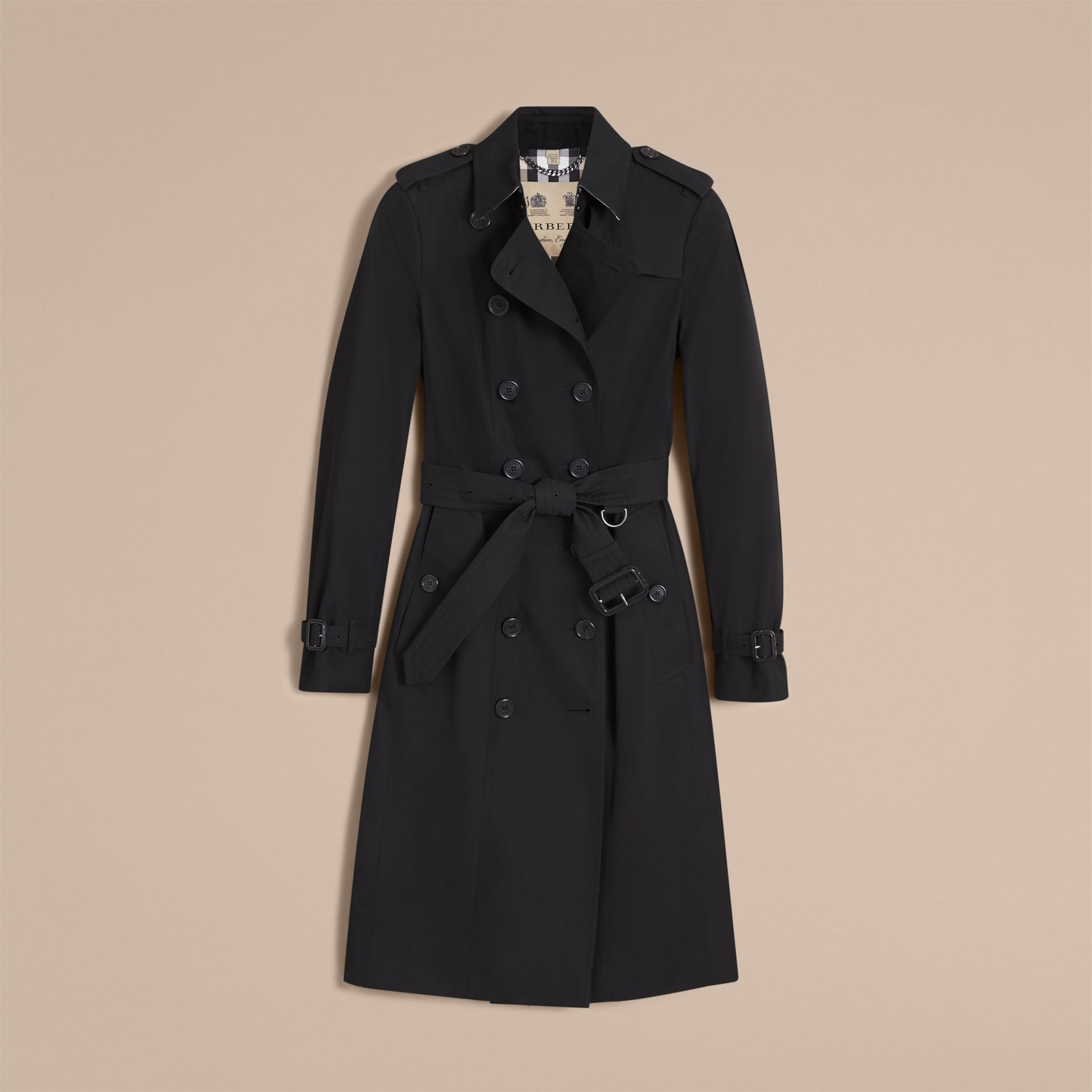 The Sandringham – Extra-long Heritage Trench Coat in Black - Women | Burberry Hong Kong - gallery image 4