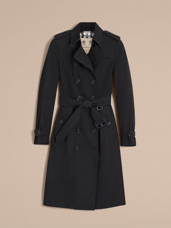 The Sandringham – Extra-long Heritage Trench Coat in Black - Women | Burberry - cell image 3