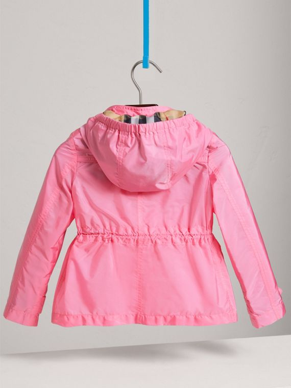 Hooded Packaway Technical Jacket in Peony - Girl | Burberry - cell image 3
