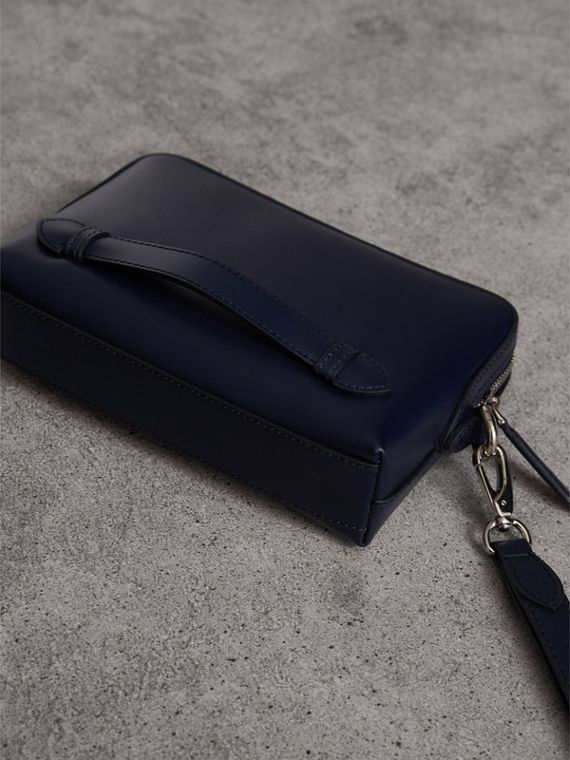 London Leather Pouch in Dark Navy - Men | Burberry - cell image 2