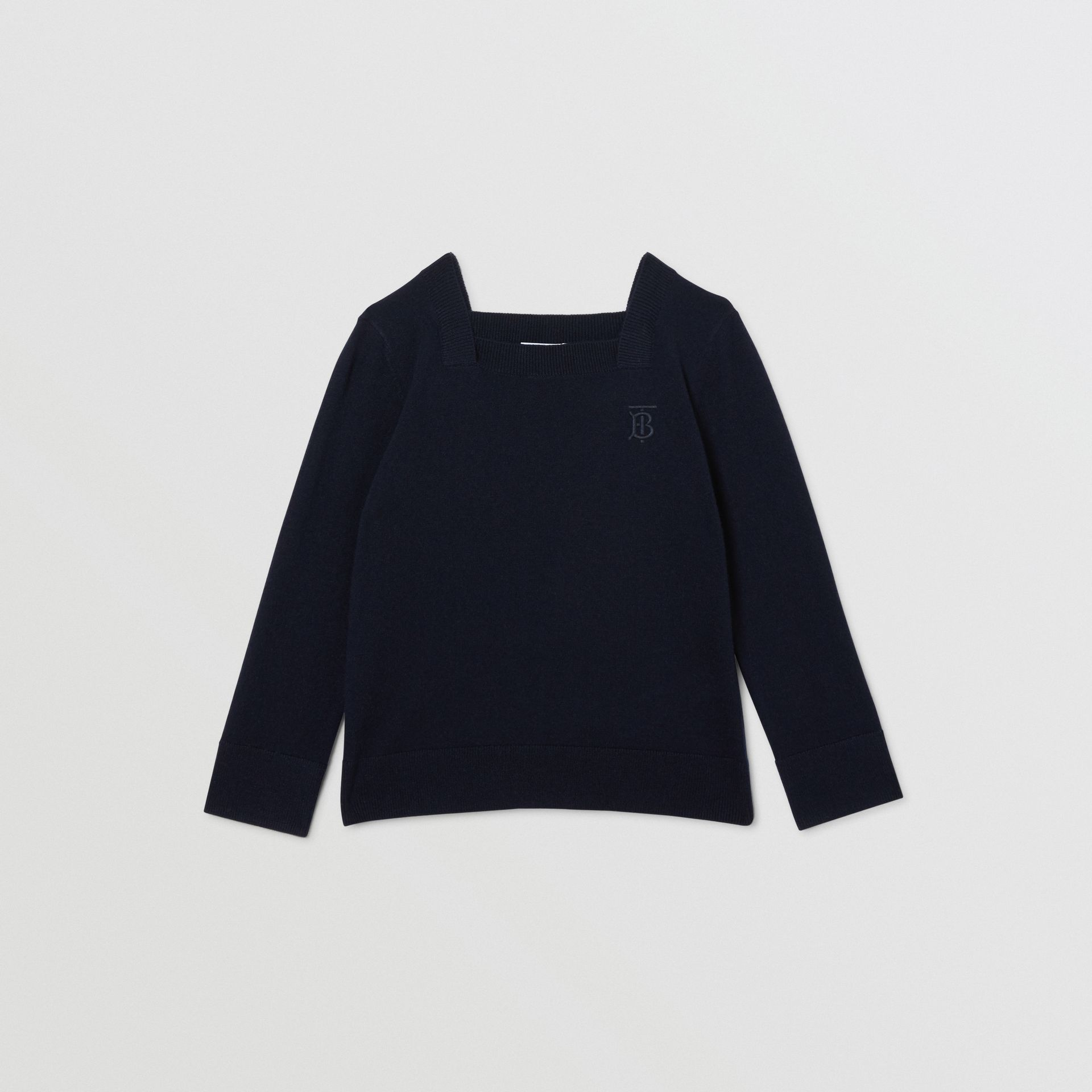 Monogram Motif Cashmere Sweater in Navy | Burberry - gallery image 0