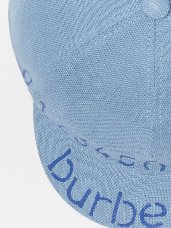 Stencil Logo Print Baseball Cap in Bright Cyan Blue - Children | Burberry - cell image 1
