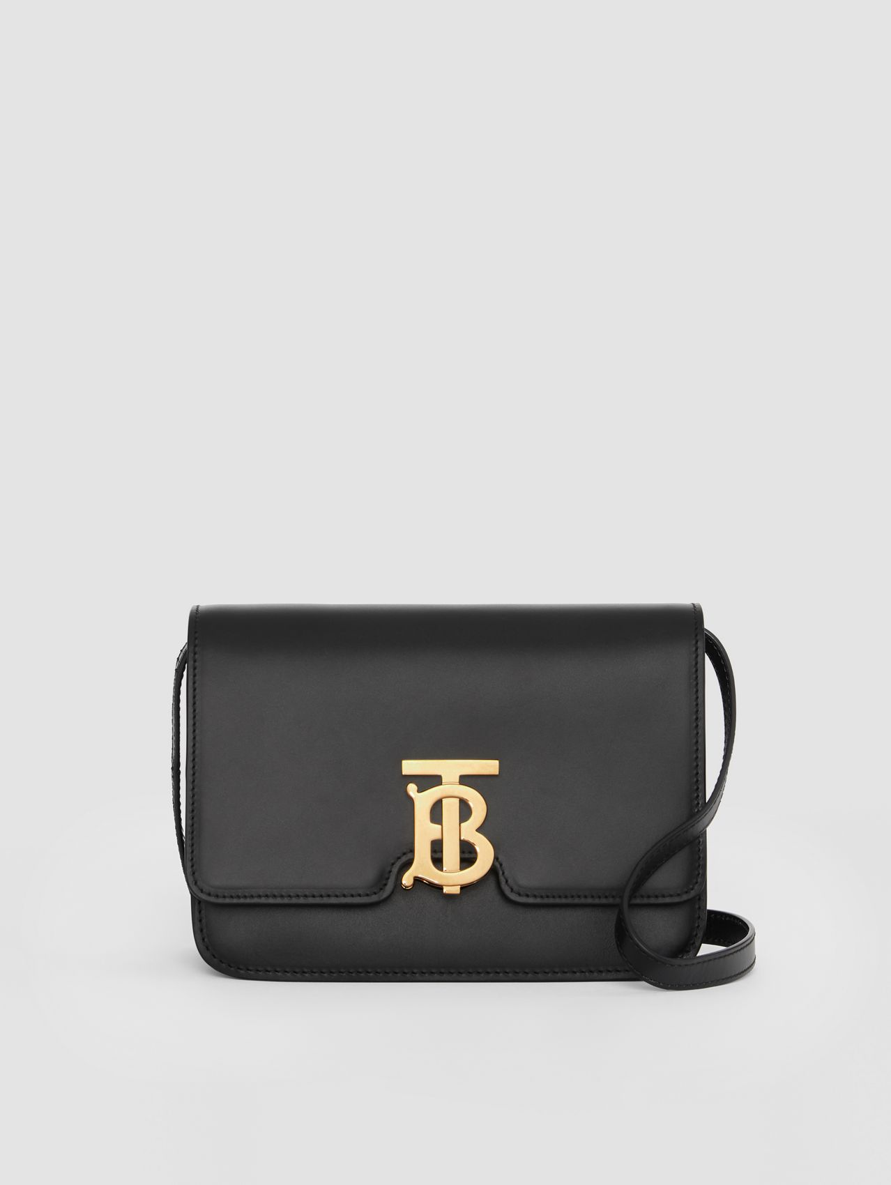 Small Leather TB Bag in Black
