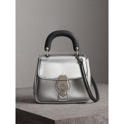 Burberry small DK88 Top Handle Bag in Metallic Leather Outlet Popular Cheap Reliable Perfect Best Prices For Sale Cheapest For Sale htdBnDO3F