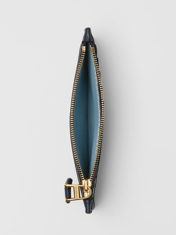 Equestrian Knight Leather Zip Card Case in Regency Blue - Women | Burberry United Kingdom - cell image 2