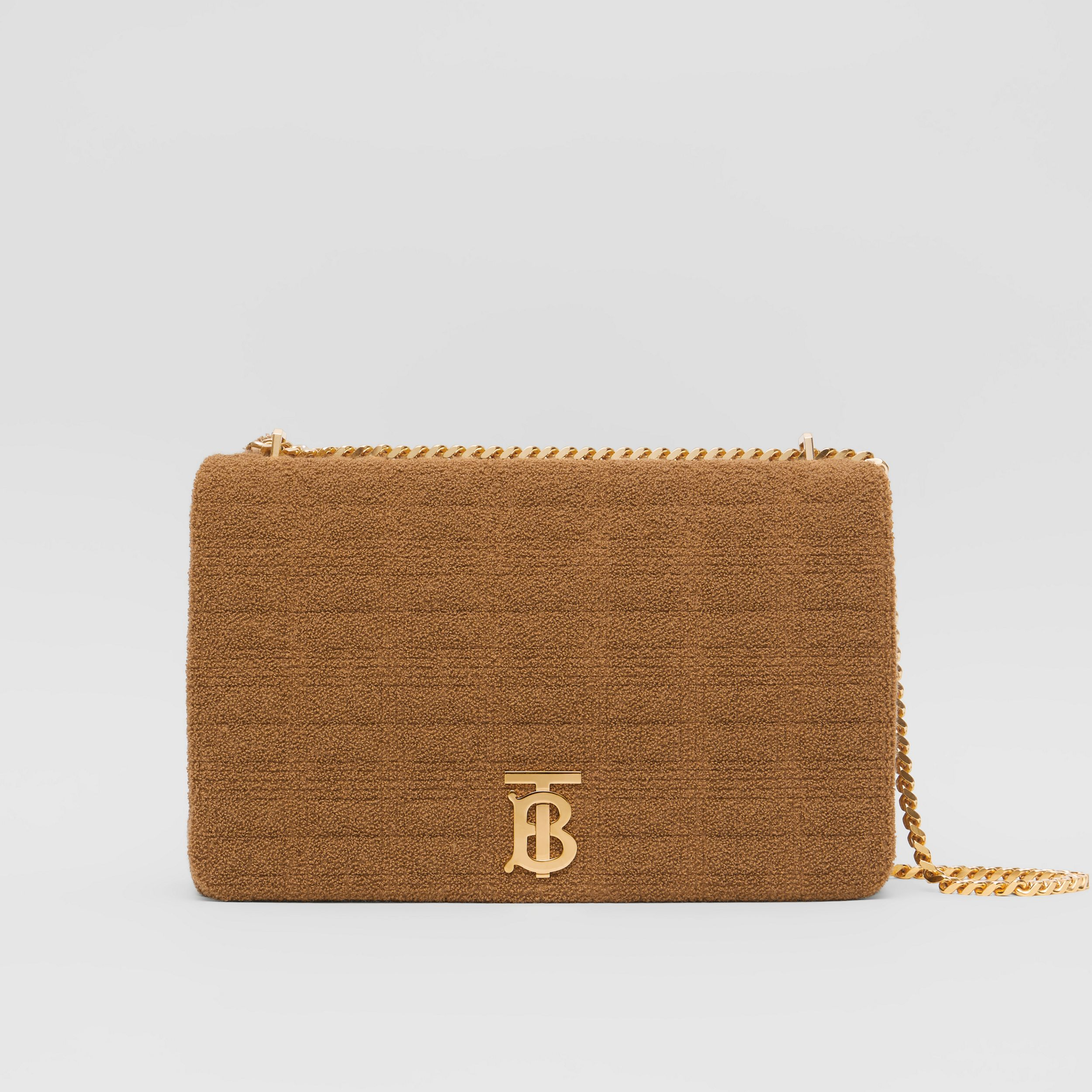 Extra Large Quilted Towelling Lola Bag in Camel - Women | Burberry - 1