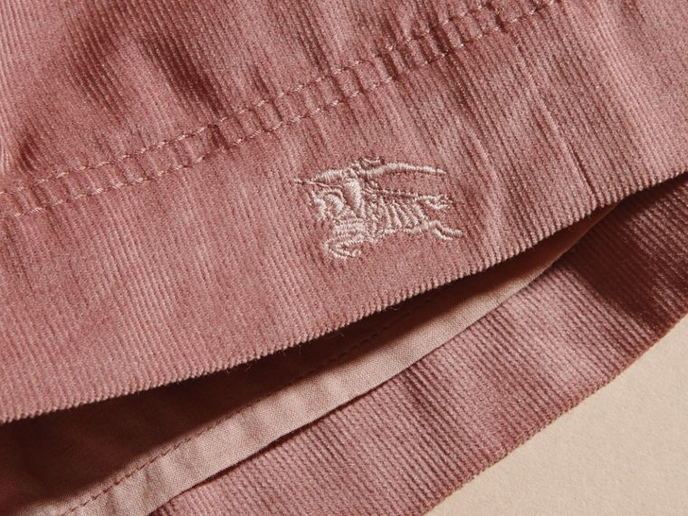 Rose cendré pâle Robe chemise en coton côtelé Rose Cendré Pâle - cell image 1