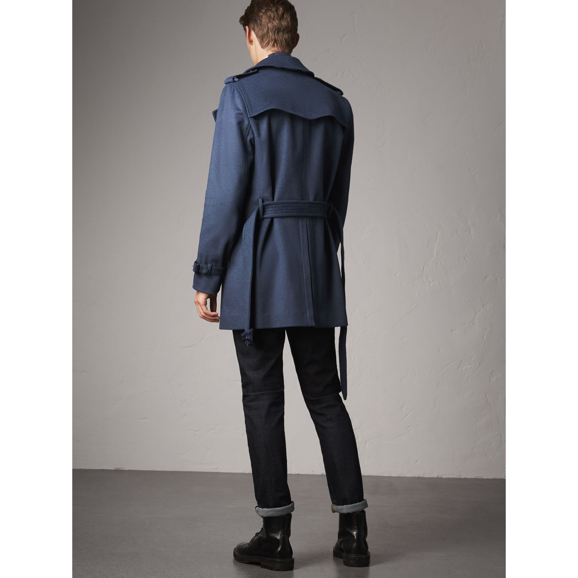 Wool Cashmere Trench Coat in Dark Canvas Blue - Men | Burberry - gallery image 2