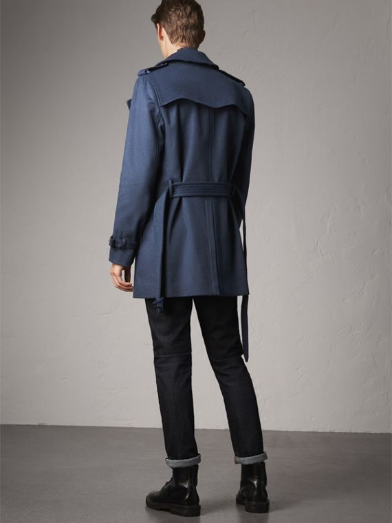 Wool Cashmere Trench Coat in Dark Canvas Blue - Men | Burberry United Kingdom - cell image 2