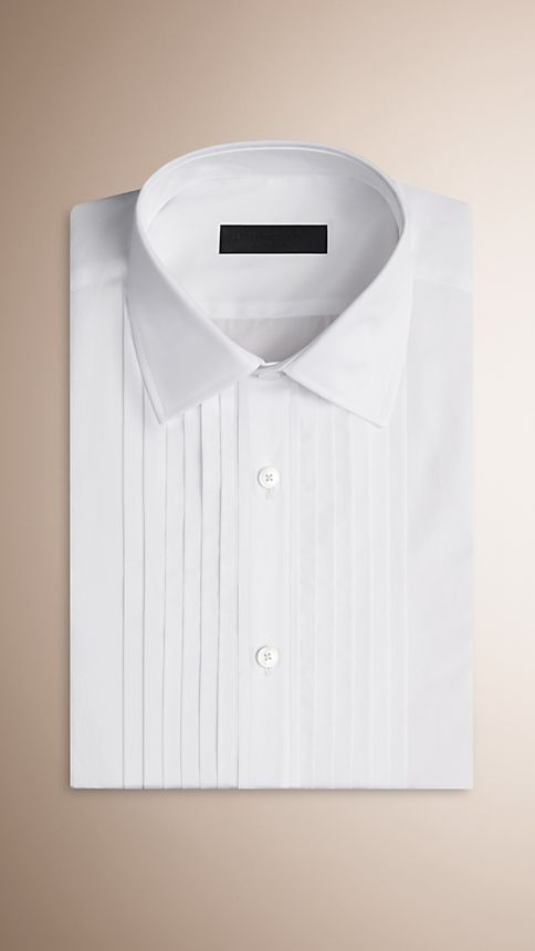 Optic white Cotton Dress Shirt - Image 3