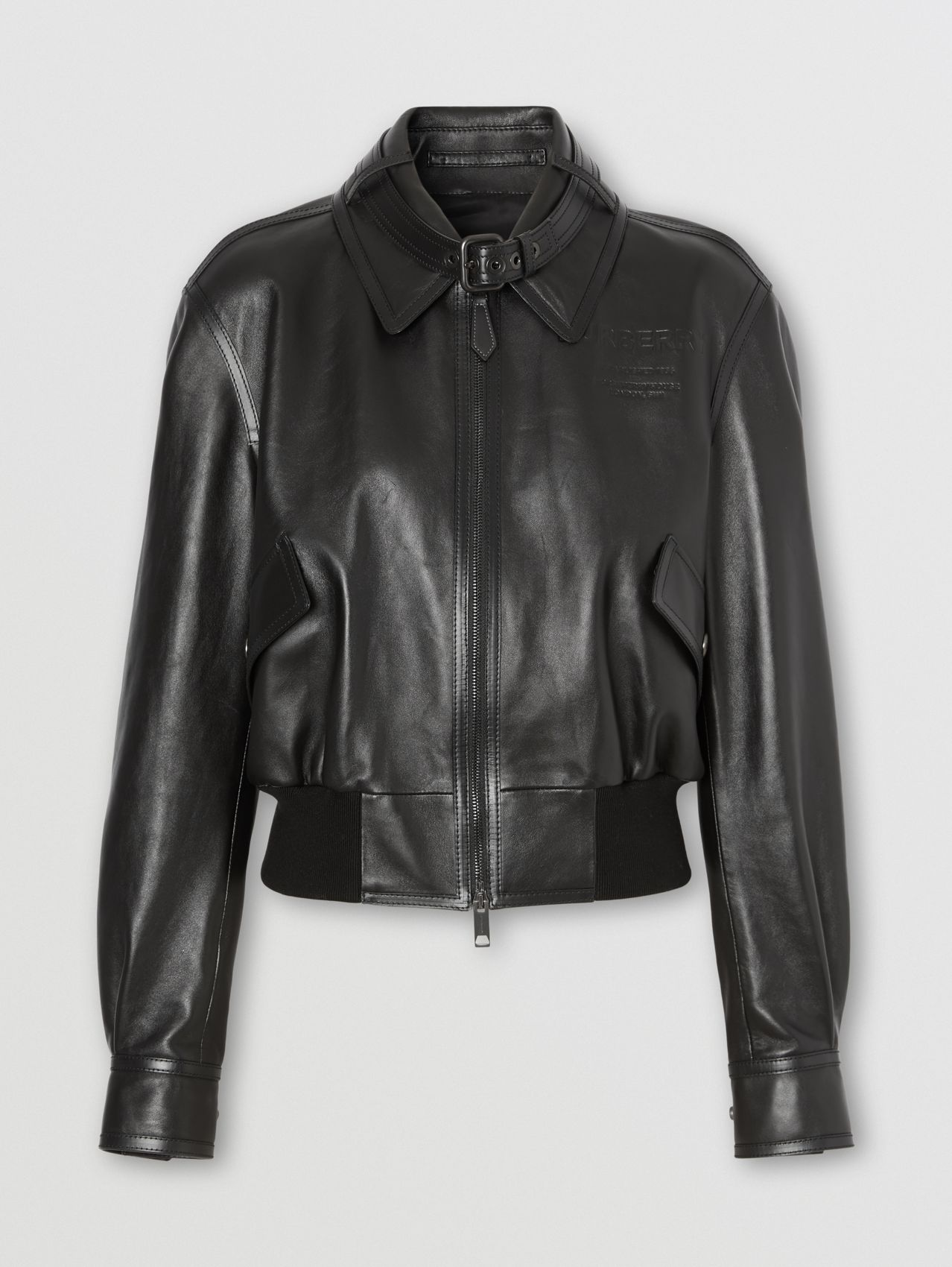 Lambskin and Leather Blouson in Black