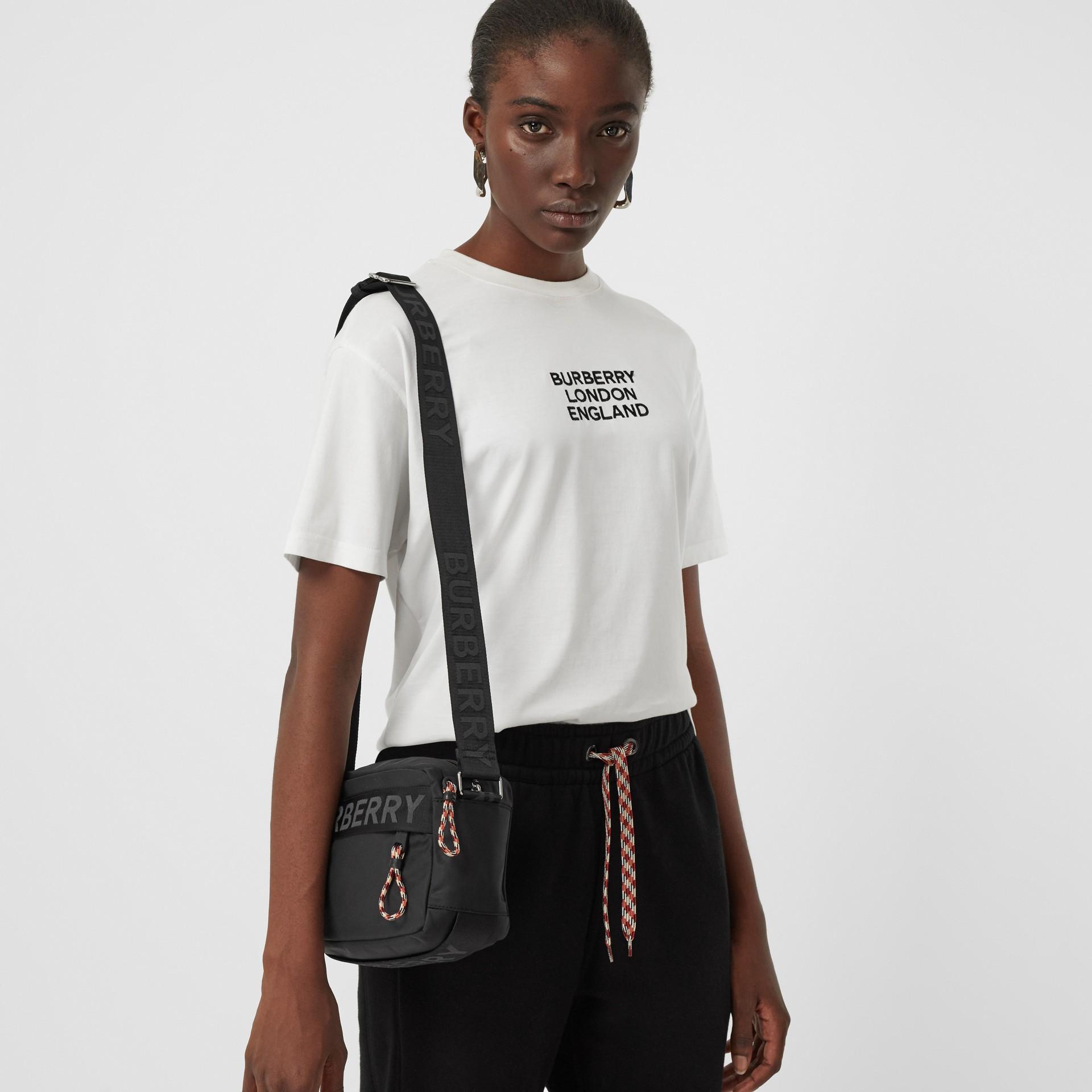 Logo Detail Crossbody Bag in Black | Burberry United Kingdom - gallery image 10