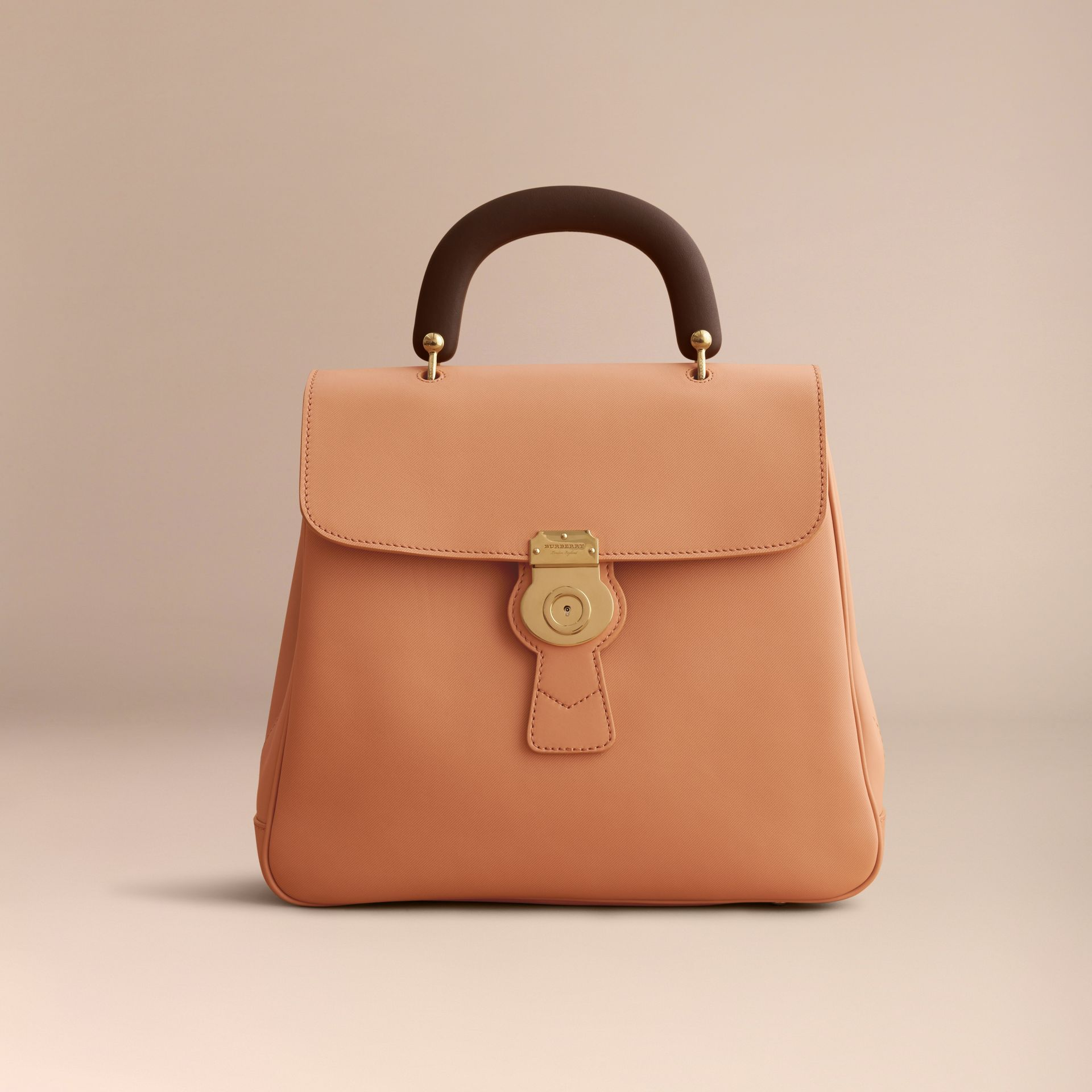 The Large DK88 Top Handle Bag in Pale Clementine - Women | Burberry United Kingdom - gallery image 7