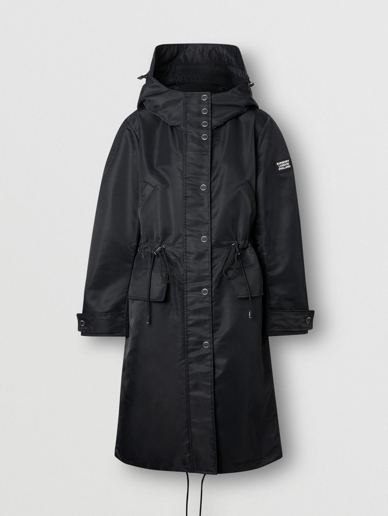 Horseferry Print Recycled Nylon Parka in Black