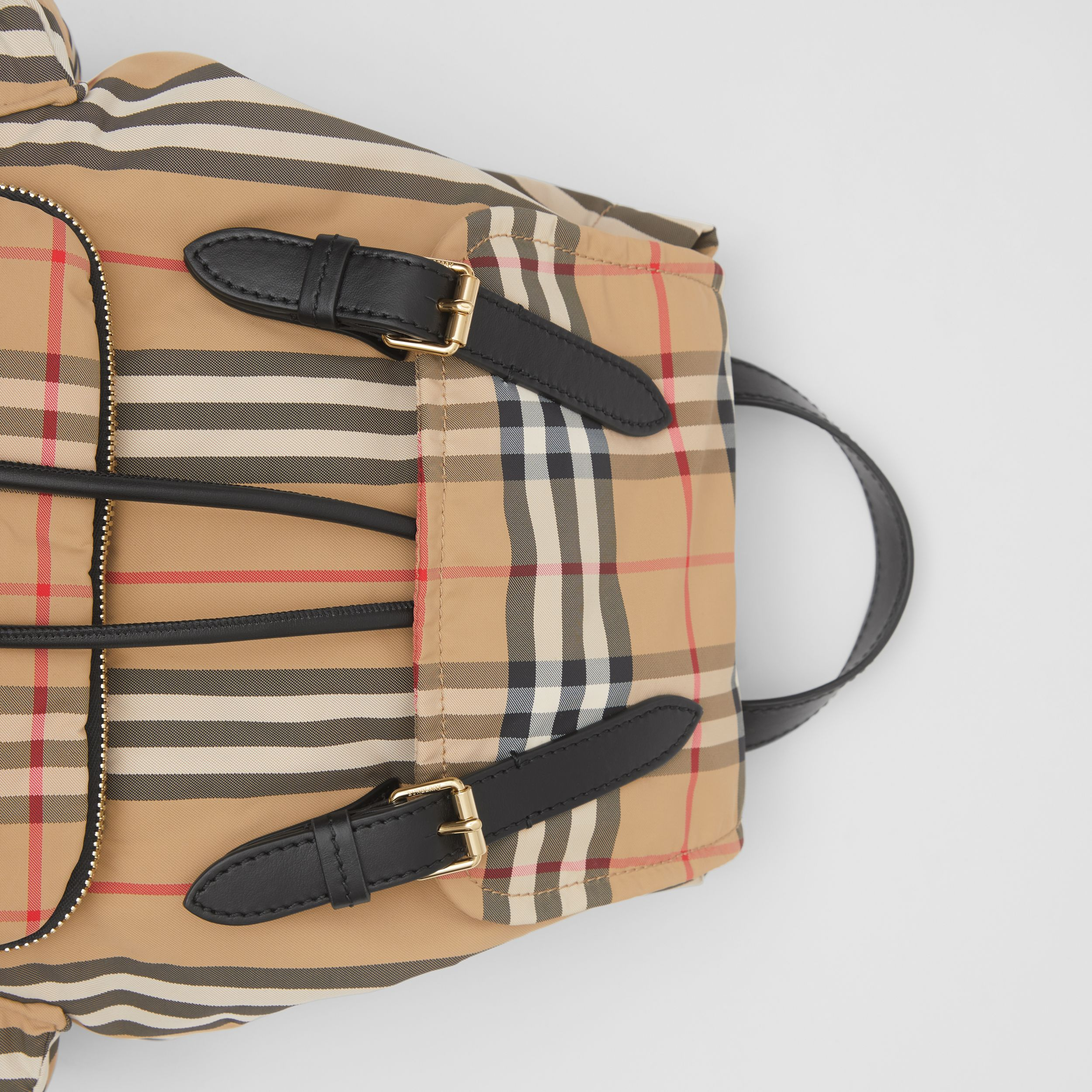 The Medium Rucksack in Vintage Check ECONYL® in Archive Beige - Women | Burberry - 2