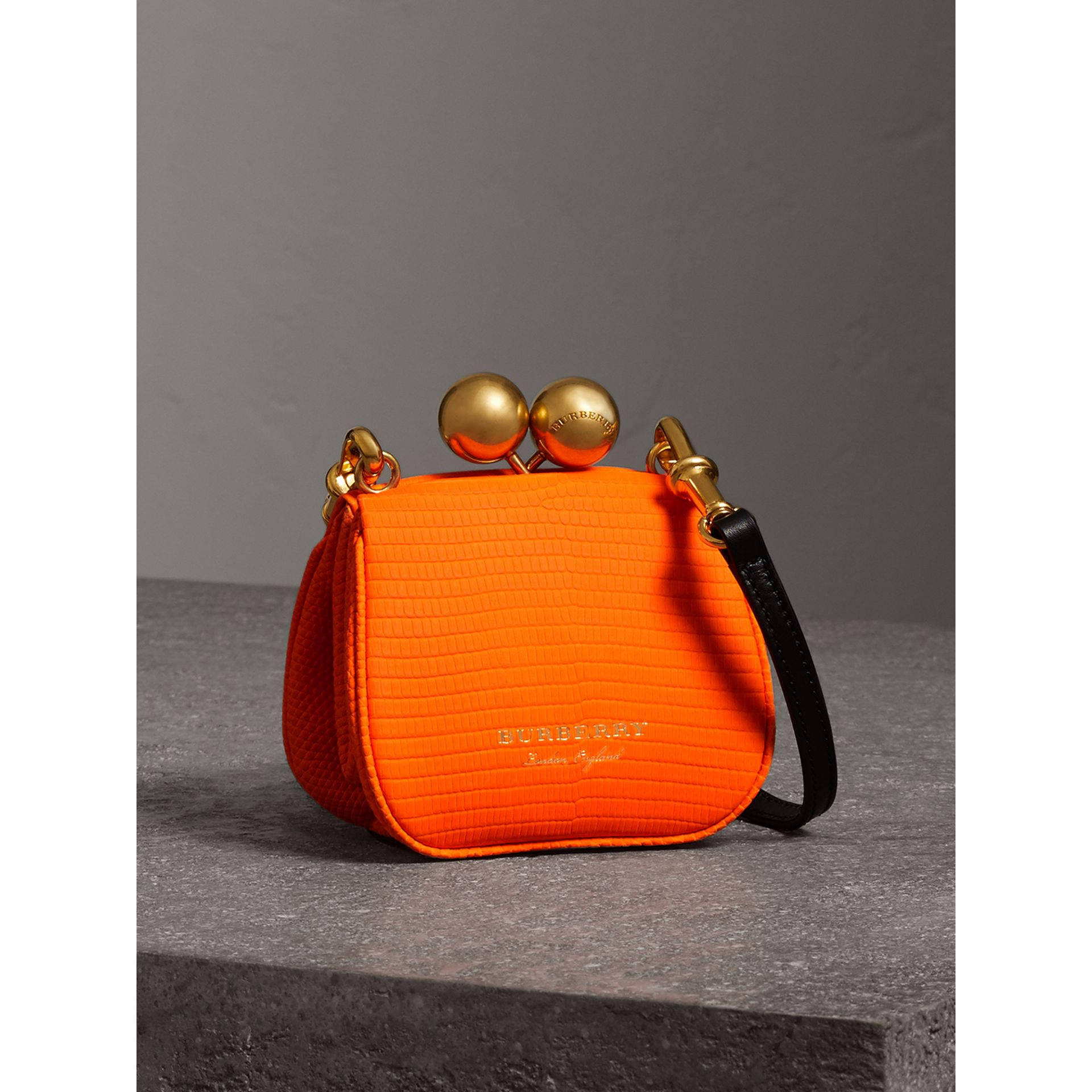Mini Lizard Frame Bag in Neon Orange - Women | Burberry - gallery image 4