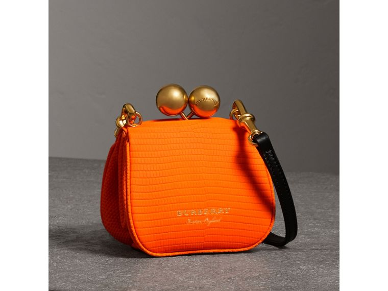 Mini Lizard Frame Bag in Neon Orange - Women | Burberry - cell image 4