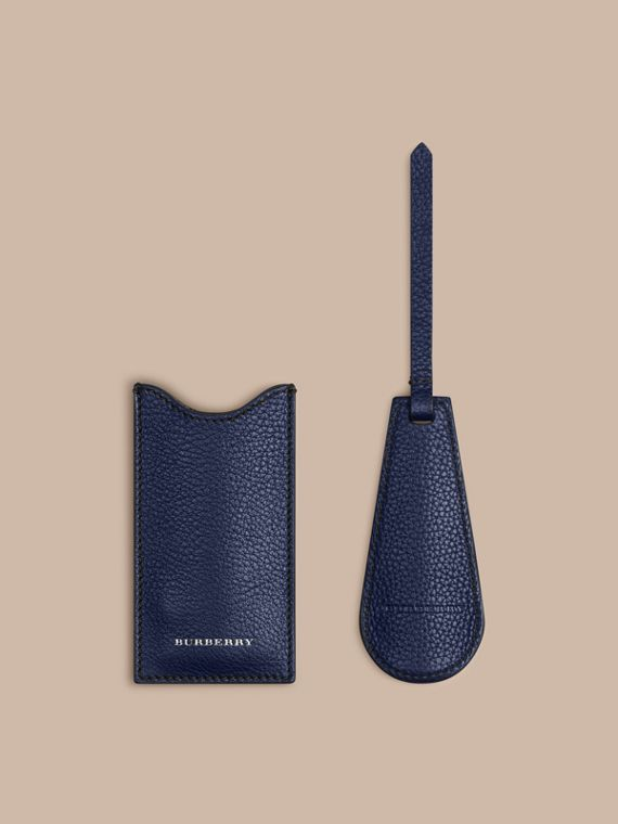 Leather Shoe Horn in Bright Navy - Men | Burberry United Kingdom - cell image 2