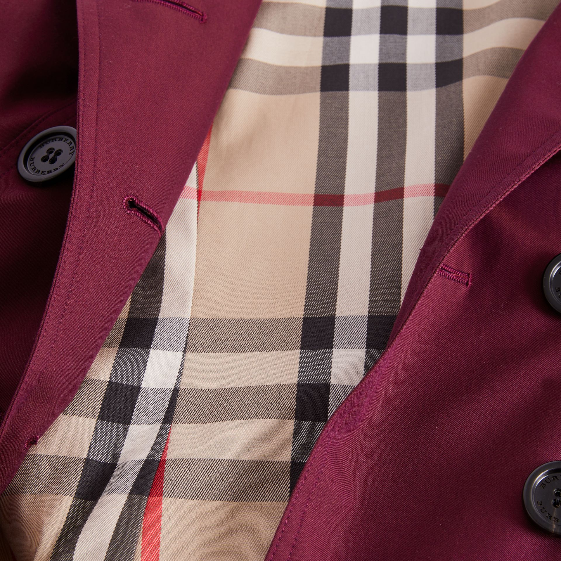 Sandringham Fit Cotton Gabardine Trench Coat in Crimson - Women | Burberry - gallery image 8