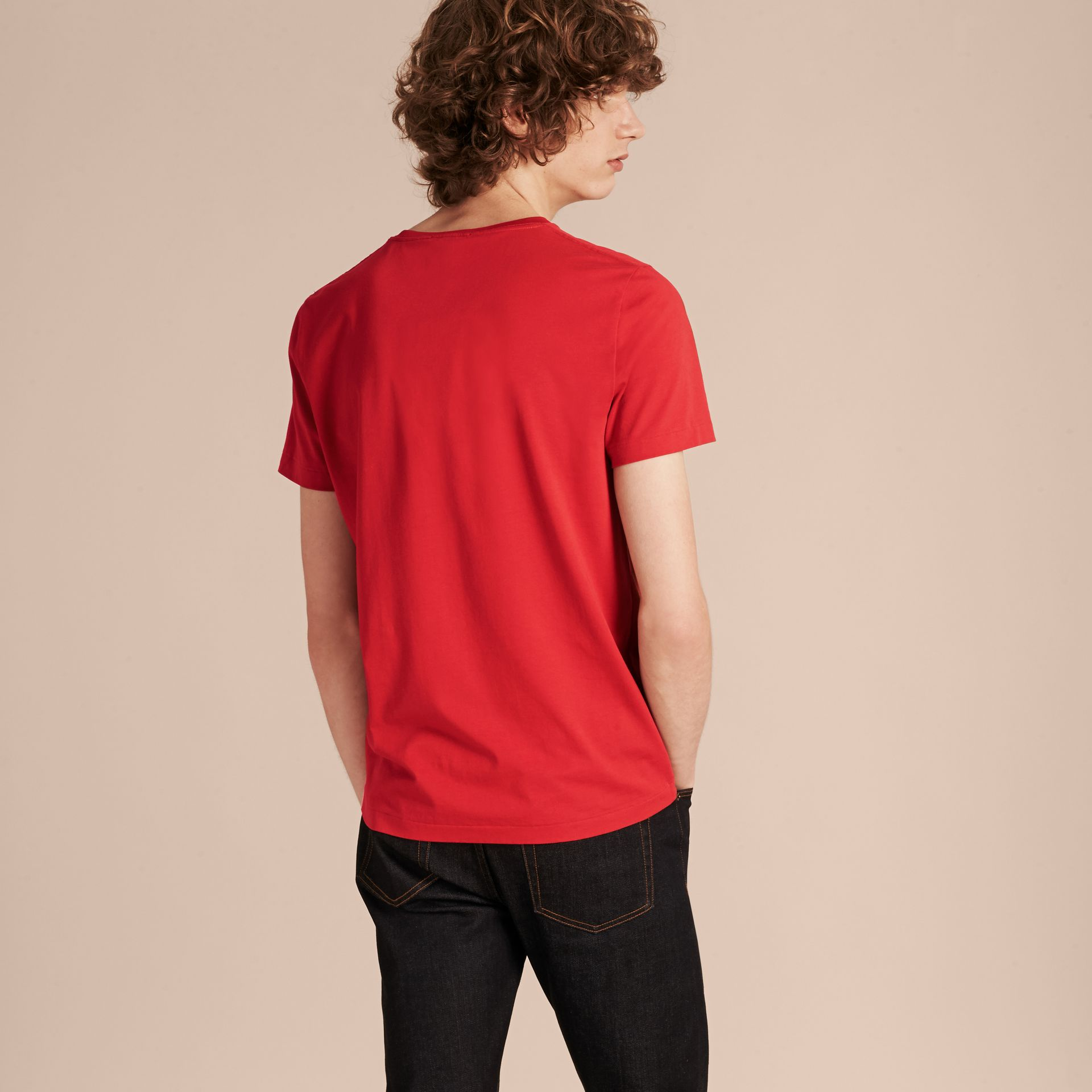 Military red Liquid-soft Cotton T-Shirt Military Red - gallery image 3