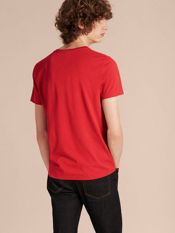 Military red Liquid-soft Cotton T-Shirt Military Red - cell image 2