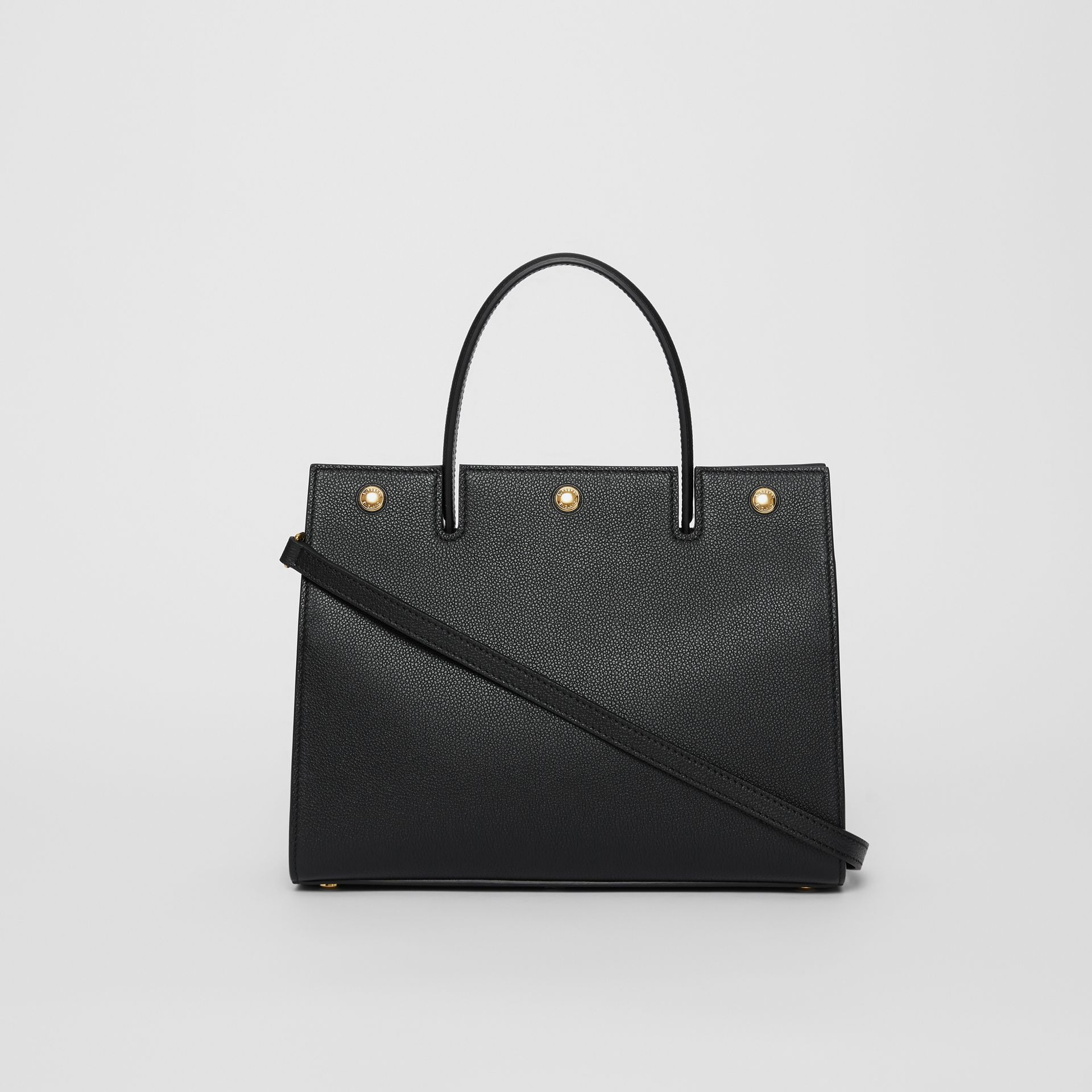 Small Leather Title Bag in Black - Women | Burberry - gallery image 7