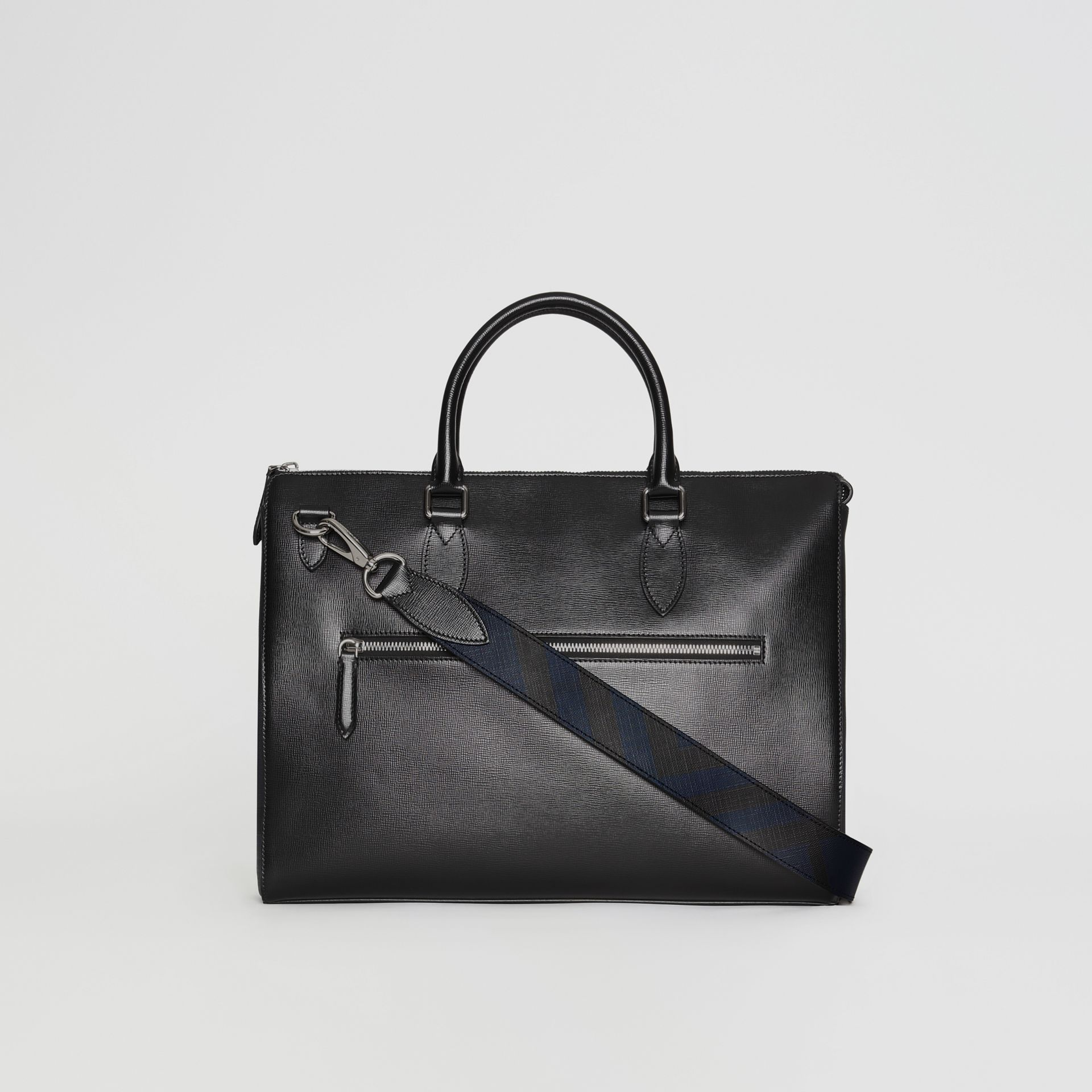 Large London Leather Briefcase in Black - Men | Burberry Australia - gallery image 6