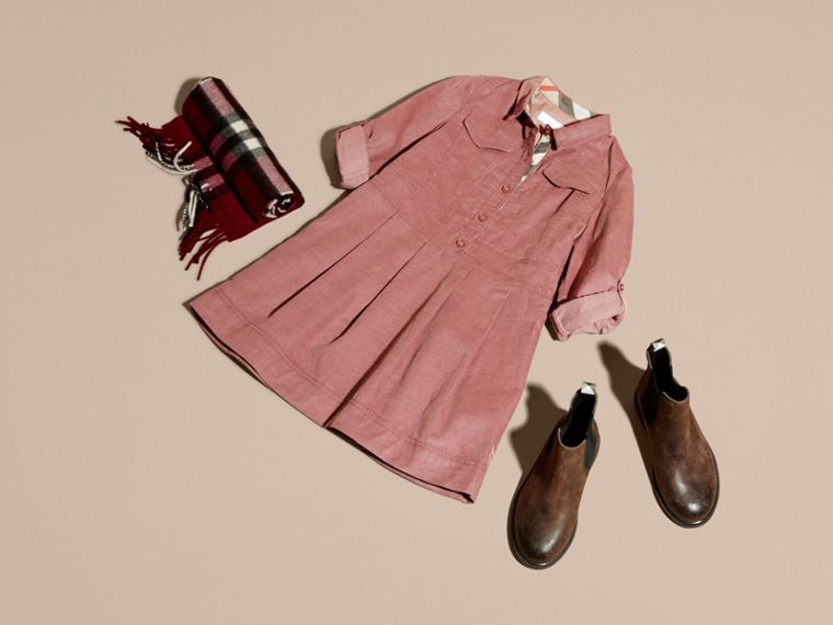 Pale ash rose Cotton Corduroy Shirt Dress Pale Ash Rose - cell image 4