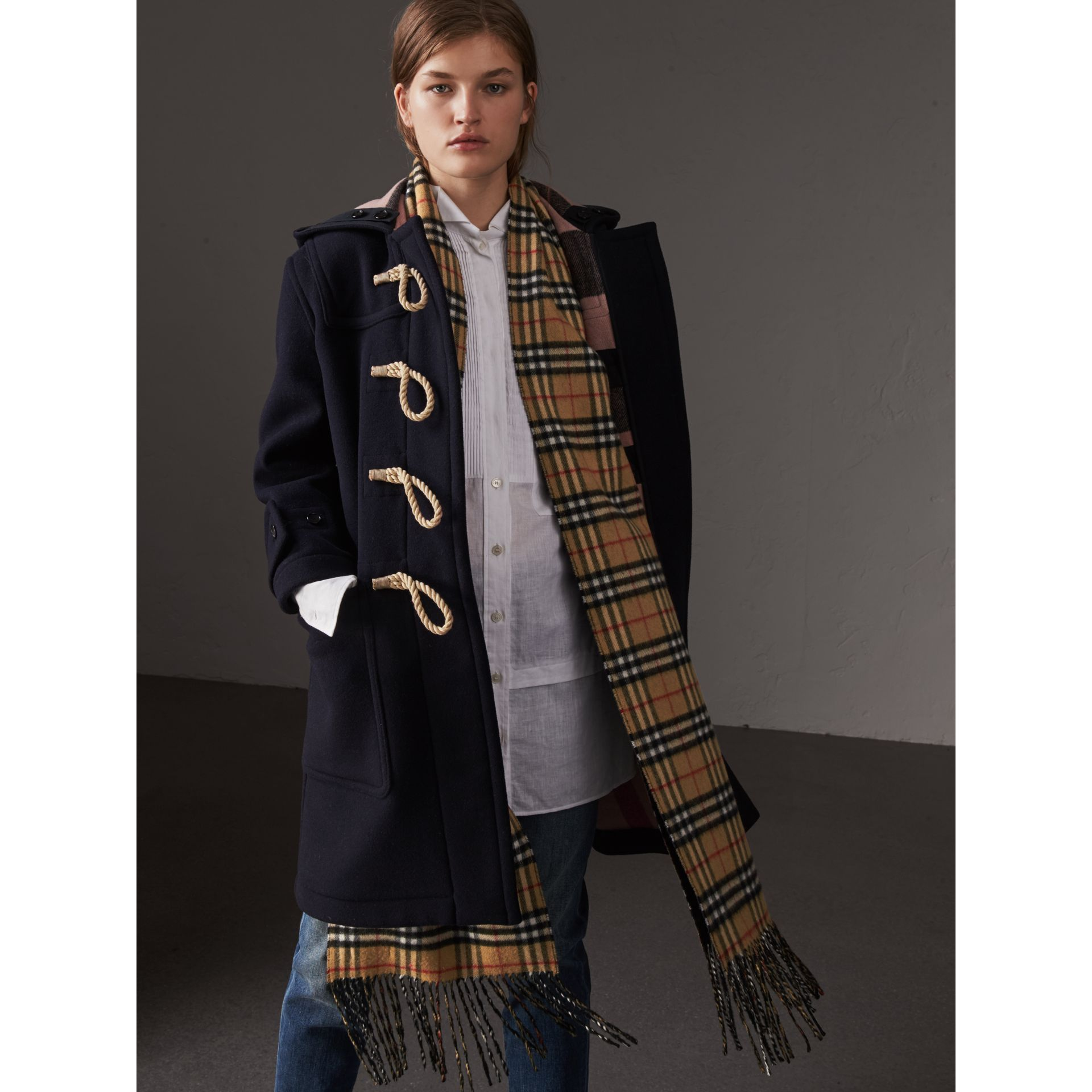 The Greenwich Duffle Coat in Navy - Women | Burberry United States - gallery image 5