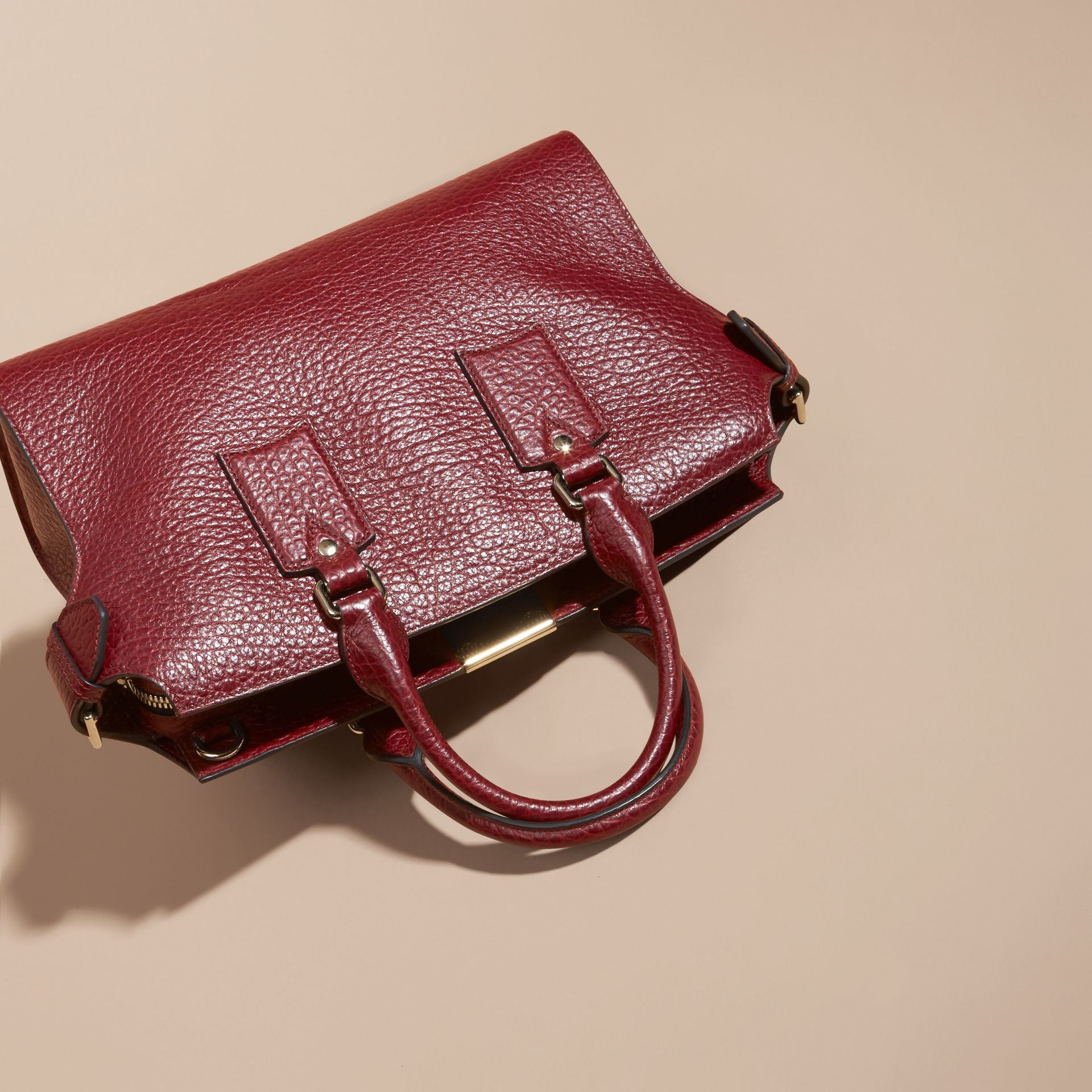 Deep red The Medium Clifton in Signature Grain Leather - gallery image 5