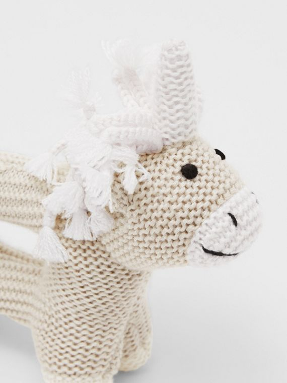Unicorn Wool Silk Rattle in Oatmeal Melange
