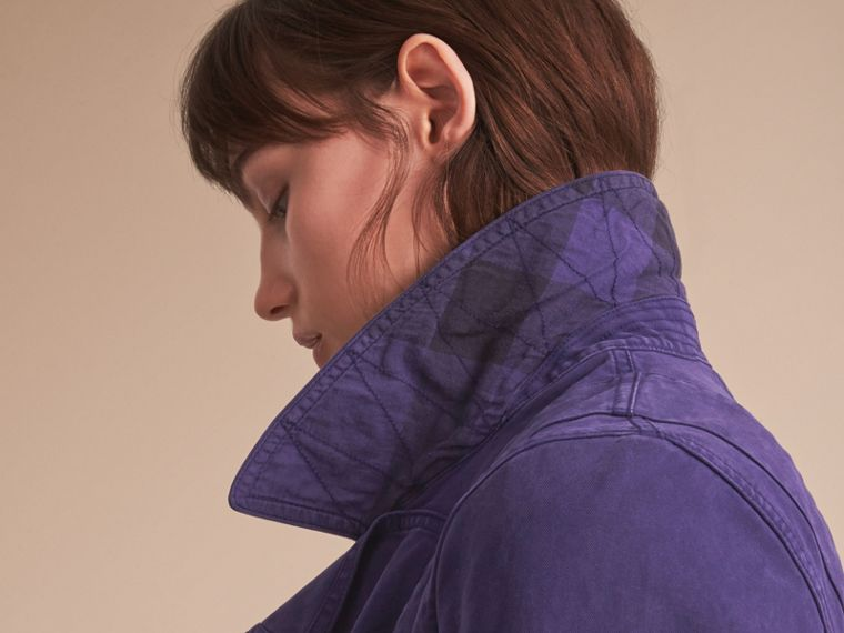 Draped Cotton Utility Jacket - cell image 4