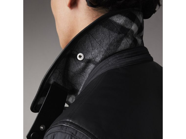 Lambskin Yoke Diamond Quilted Jacket in Black - Men | Burberry United Kingdom - cell image 4